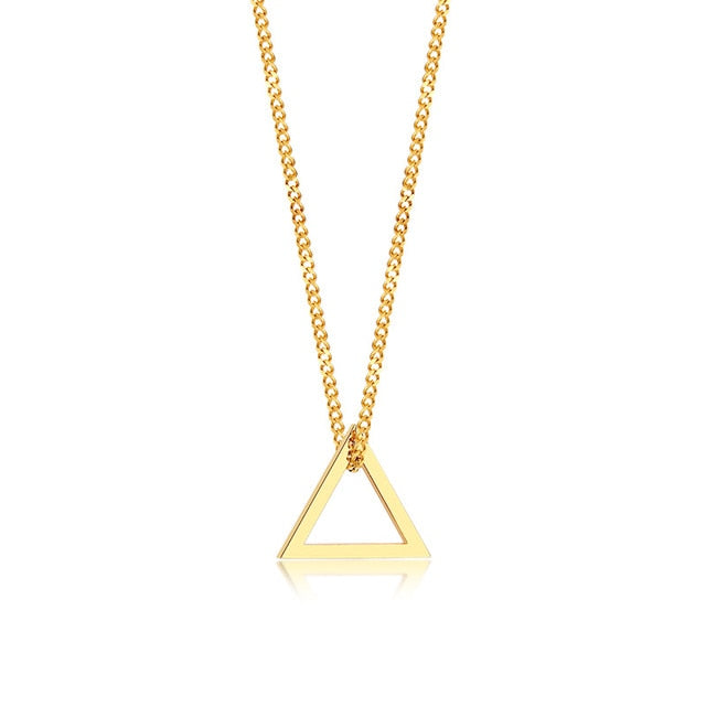 Industrial Necklace - Gold Triangle