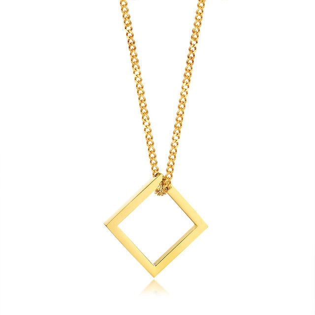 Industrial Necklace - Gold Square