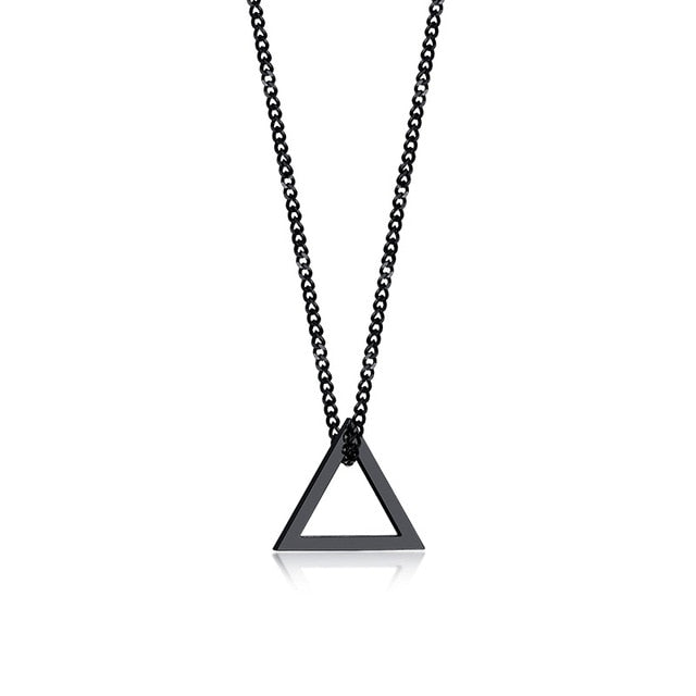 Industrial Necklace - Black Triangle