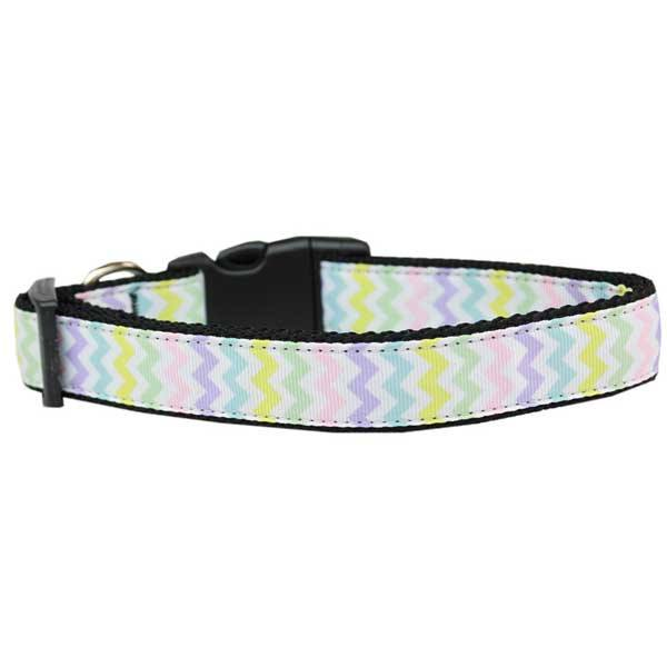 Spring Chevron Easter Dog Collar