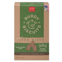 Cloud Star Itty Bitty Buddy Biscuits Dog Treats, 8oz Box, Roasted Chicken