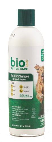 BioSpot Active Care Flea & Tick Shampoo for Dogs and Puppies, 12 oz.
