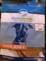 Barkworthies Duck Jerky Dog Treats, 4oz.