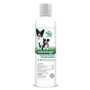 Advantage Treatment Shampoo for Dogs and Puppies 8 ounce