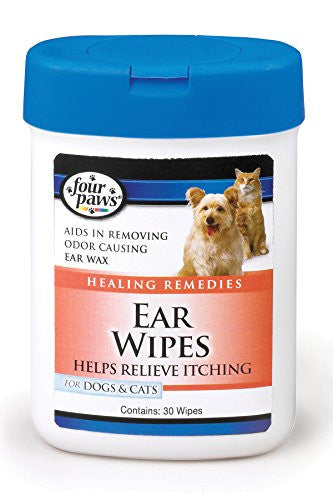 Four Paws Dog and Cat Ear Wipes, 25 count
