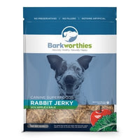 Barkworthies Rabbit Jerky with Apple & Kale