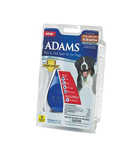Adams Flea and Tick Spot On for Dogs, Extra Large Dogs 81+ Pounds