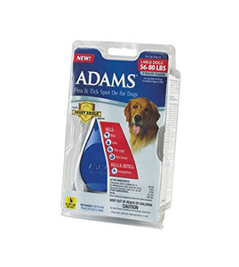 Adams Flea and Tick Spot On for Dogs, Large Dogs 56-80 Pounds