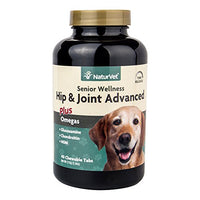 NaturVet Senior Wellness Hip & Joint Advanced Plus Omegas for Dogs, 40ct