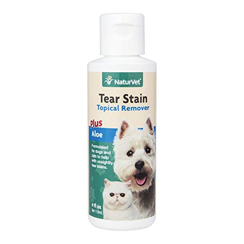 NaturVet Tear Stain Topical Remover for Dogs and Cats, 4oz.