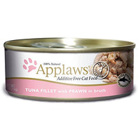 Applaws Tuna Fillet and Prawn, 24 Pack of 5.5oz Cans