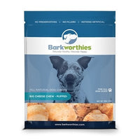 Barkworthies Big Cheese Chew Puffed Dog Treats, 5oz Case of 6