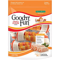 "Good 'n' Fun Triple Flavor 4"" Bones, 6 pack"