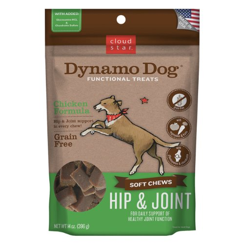 Cloud Star Dynamo Dog Hip and Joint Functional Treat, Chicken, 14oz