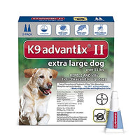 K9 Advantix II Flea, Tick and Mosquito prevention for XLarge Dogs, over 55 lbs,  2 doses