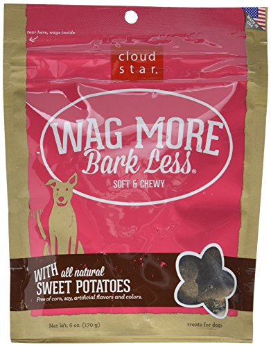 Cloud Star Wag More Bark Less Soft ChewySweet Potato Dogs Treats, 6oz