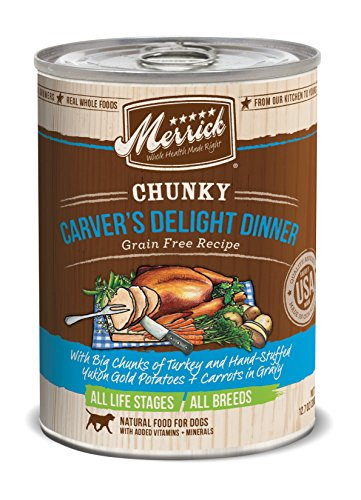 Merrick Chunky Carvers Delight Dinner Dog Food, 12.7 oz, 12 Pack