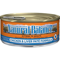 Natural Balance Chicken & Liver Paté Cat Food, 24 Pack
