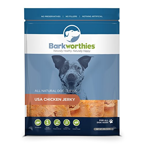 Barkworthies Chicken with Cranberry & Blueberry Jerky Dog Treats, 4oz.