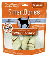 "SmartBones Sweet Potato Dog Chew, Small 5"", 6 pack"