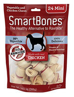 "SmartBones Chicken Dog Chew, Mini 2.5"", 24 pack"