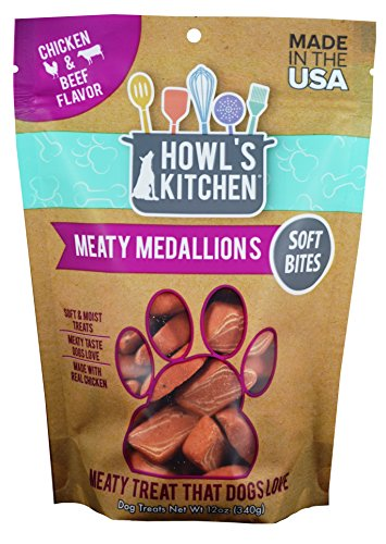 Howl's Kitchen Beef And Chicken Meaty Medallions Dog Treats, 12oz