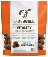 Dogswell Beef Vitality Meatballs Dog Treats, 15oz.