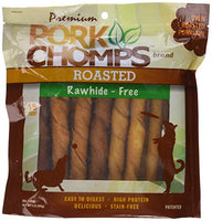Pork Chomps Roasted Twists, Large 15 Count