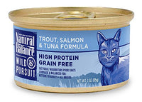 Natural Balance Wild Pursuit Trout, Salmon & Tuna Grain Free Cat Food, 24 Pack