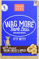 CloudStar Wag More Bark Less Itty Bitty Bacon Apple Dog Treats 8oz