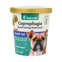 NaturVet Coprophagia Stool Eating Deterrent Plus Breath Aid for Dogs, 70ct.