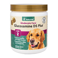 NaturVet Glucosamine DS Plus Level 2 Joint Care for Dogs & Cats, 120ct