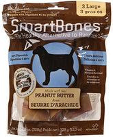 "SmartBones Peanut Butter Dog Chew, Large 7"", 3 pack"