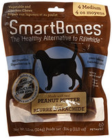 "SmartBones Peanut Butter Dog Chew, Medium 5.5"", 4 pack"
