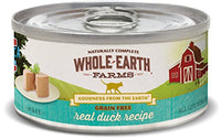 Whole Earth Farms Grain Free Duck Cat Food, 24 Pack