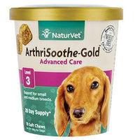 NaturVet ArthriSoothe-GOLD Level 3 Advanced Joint Care For Dogs & Cats, 70ct.