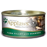 Applaws Tuna Fillet and Seaweed, 24 Pack of 2.47oz. Cans