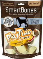"SmartBones Play Time Peanut Butter Dog Chew, Small 5"", 10 pack"