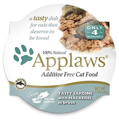 Applaws Tasty Sardine with Mackerel Peel & Serve Pot Cat Food, 18 Pack