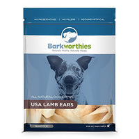Barkworthies Lamb Ears Dog Treats, 10 Pack