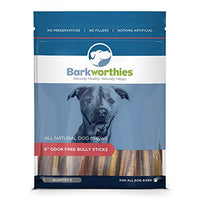 "Barkworthies Odor-Free Bully Stick Treat, 6"" - 5 Pack"