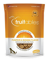 Fruitables Pumpkin & Banana Crunchy Dog Treat, 7oz