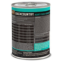 Merrick Backcountry Grain Free Hearty Duck & Venison Stew Dog Food, 12.7oz. 12 Pack