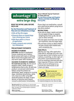 Advantage II Flea and Lice Treatment for X-Large Dogs, Over 55 lb, 4 doses