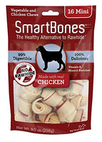 "SmartBones Chicken Dog Chew, Mini 2.5"", 16 pack"