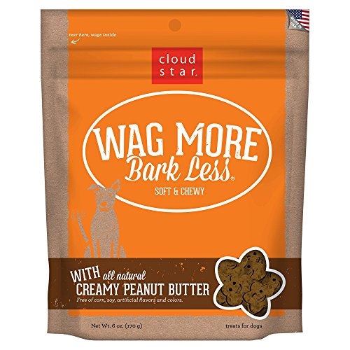 Cloud Star Wag More Bark Less Soft Chewy Creamy Peanut Butter, 6 oz