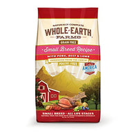 Whole Earth Farms Small Breed Pork, Beef & Lamb Grain Free Dog Food