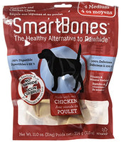 SmartBones Chicken Dog Chew, Medium, 4 pieces/pack