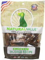 Loving Pets Natural Value All Natural Soft Chew Chicken Sausages for Dogs, 14-Ounce