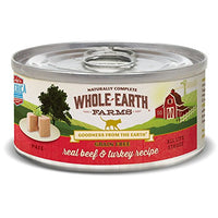 Whole Earth Farms Grain Free Beef & Turkey Cat Food, 5oz. 24 Pack